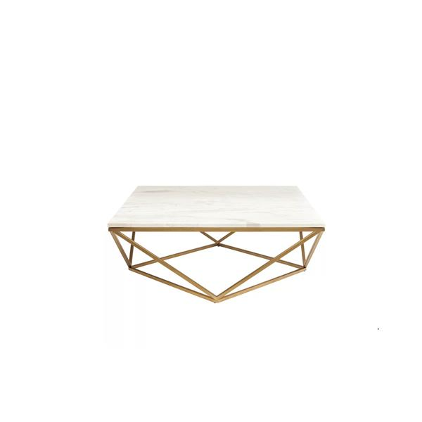 plata decor justine marble coffee table metal base and faux marble