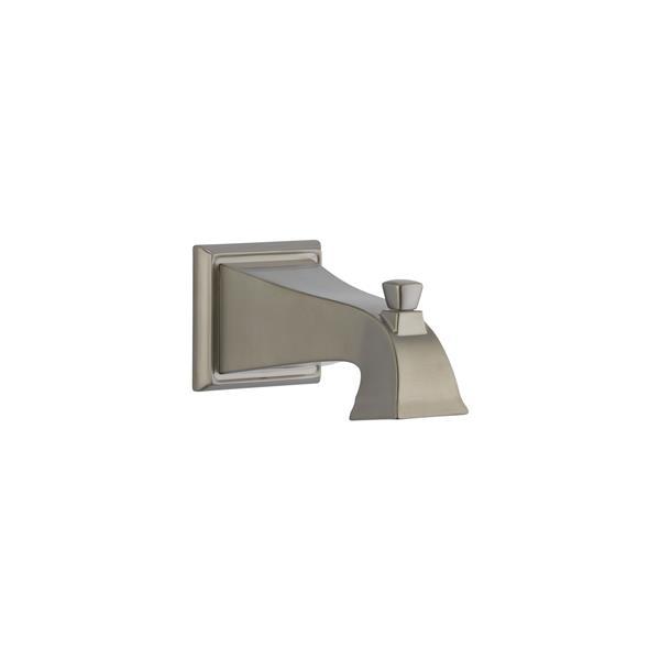 delta dryden tub spout pull up diverter stainless steel