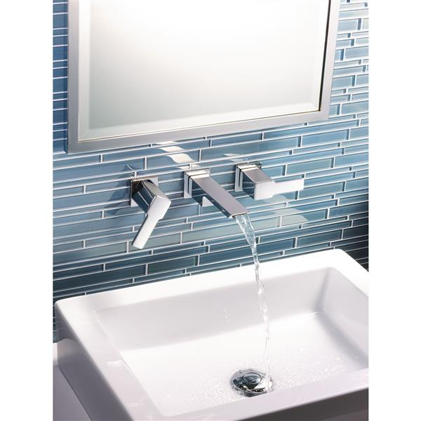 moen 90 degree wall mount bathroom faucet two handle chrome valve sold separately