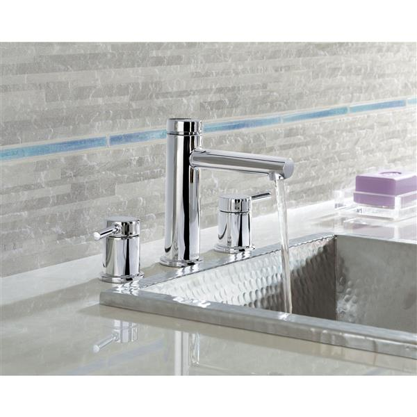 moen align bathroom faucet two handle chrome valve sold separately