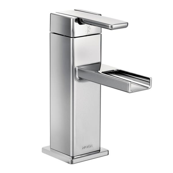 moen 90 degree modern bathroom faucet 1 handle chrome