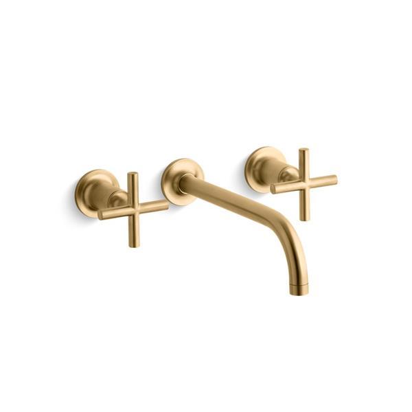 kohler purist bathroom faucet 2 handle brushed gold