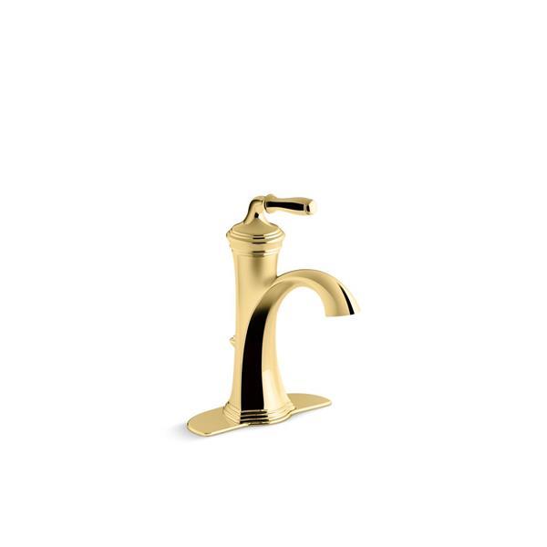 kohler devonshire bathroom sink faucet 1 handle polished brass