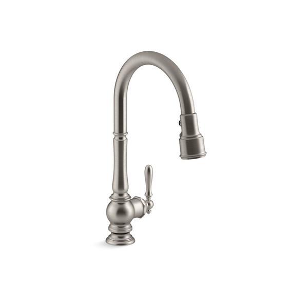 kohler artifacts single hole kitchen sink faucet