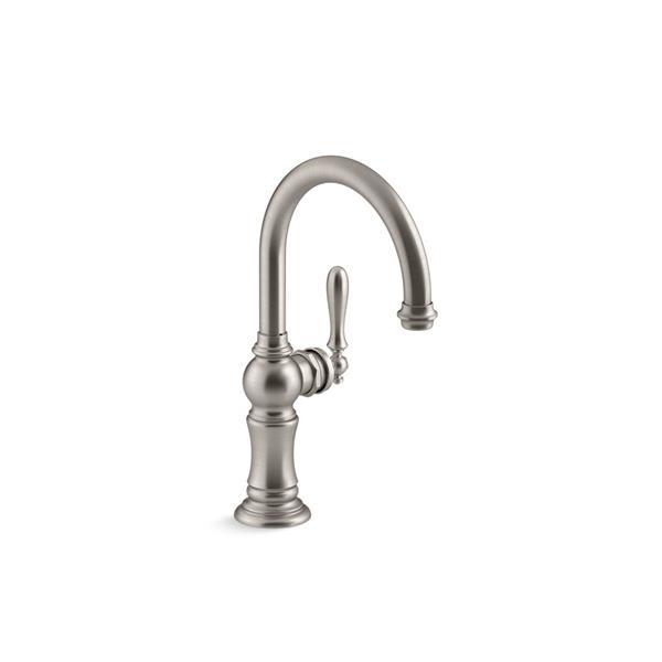 kohler artifacts single handle bar sink faucet stainless steel