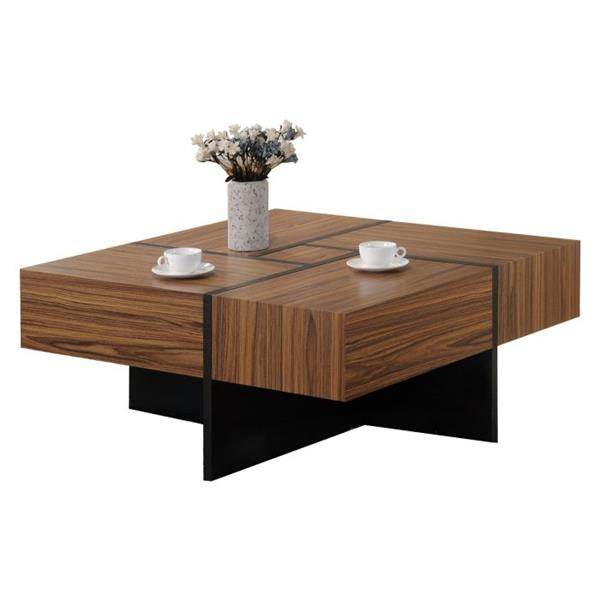 oakland living square coffee table 40 in x 18 in natural brown and black