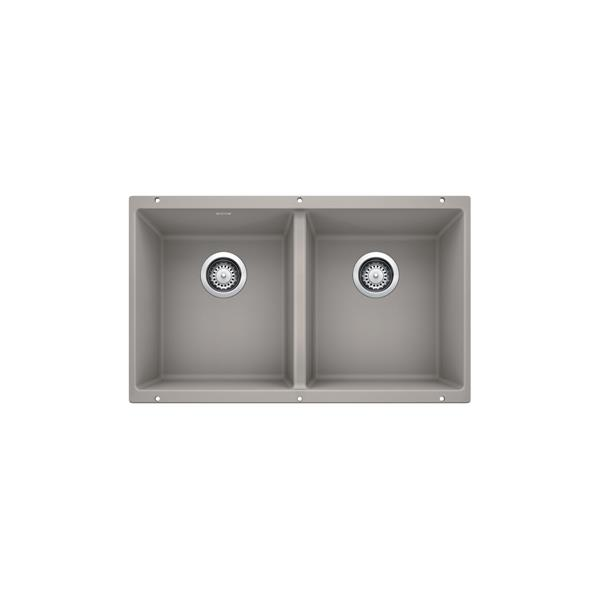 blanco precis u 2 undermount sink concrete grey