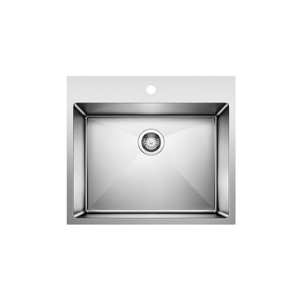 blanco quatrus r15 dual mount laundry sink stainless steel