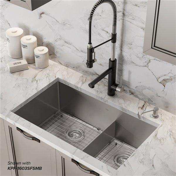 kraus standart pro undermount kitchen sink double equal bowl 32 in stainless steel