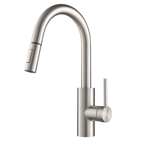 kraus oletto pull down kitchen faucet dual function single handle stainless steel