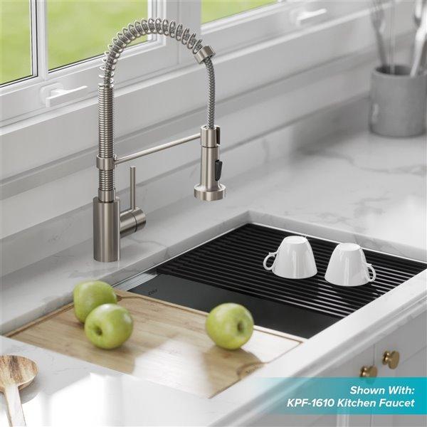 kraus kore undermount workstation kitchen sink single bowl 32 in stainless steel