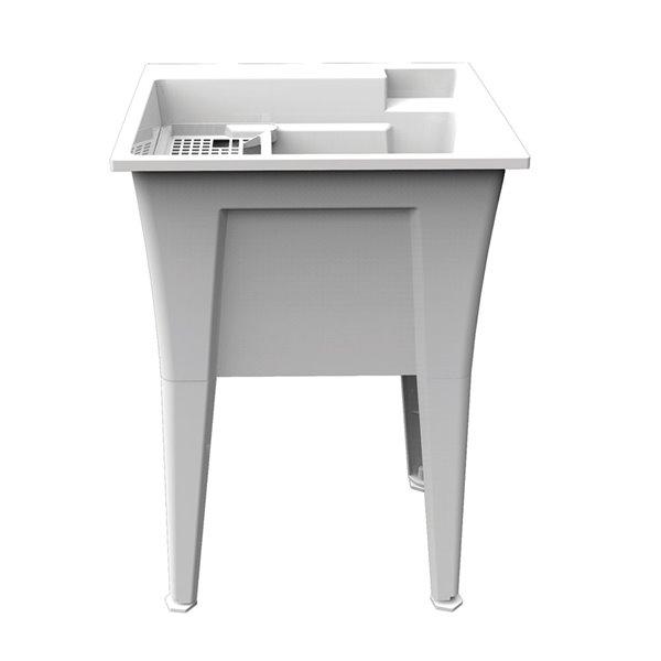 ruggedtub nova laundry sink heavy duty white 24 in