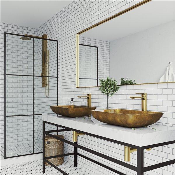 vigo copper copper bathroom sink matte gold faucet