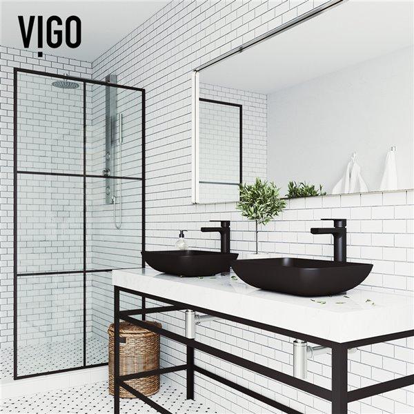 vigo sottile matte black bathroom sink matte black faucet