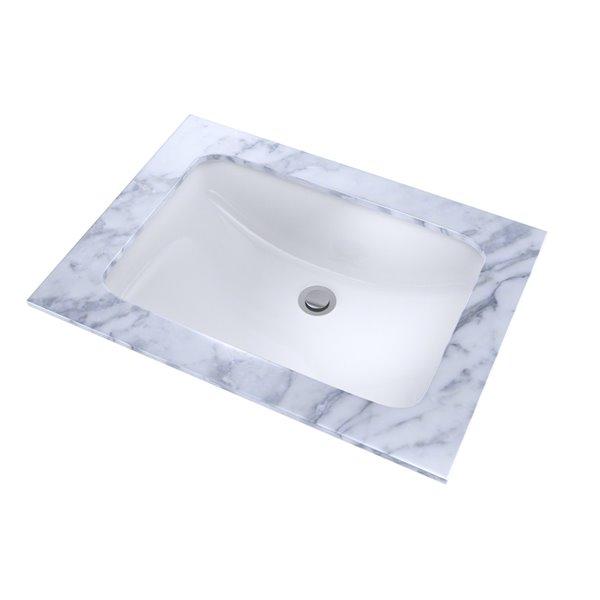 toto rectangular undermount bathroom sink 20 88 in cotton white