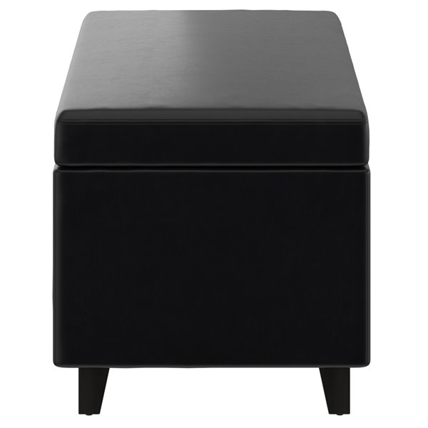whi lift top faux leather cocktail ottoman with storage black 18 25 in x 42 25 in
