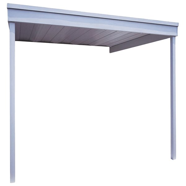 attached steel carport patio cover 10x10 ft