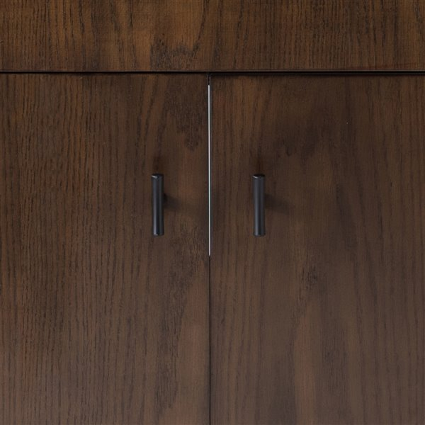 sunjoy dark brown single oval sink bathroom vanity set 2 door 2 drawer 36 in