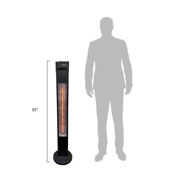 westinghouse freestanding infrared electric patio heater 5 100 btu 51 2 in matte black
