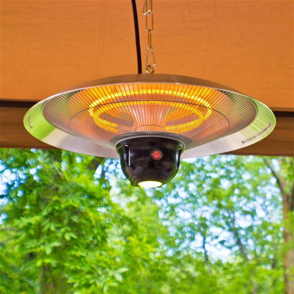 energ hanging infrared electric outdoor heater 5 100 btu 13 78 in silver