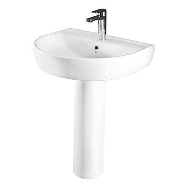 nameeks bella pedestal sink in white 32 1 in x 23 7 in x 19 5 in