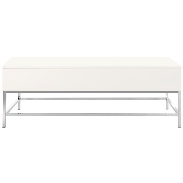 safavieh carolina contemporary white lacquer lift top rectangular coffee table