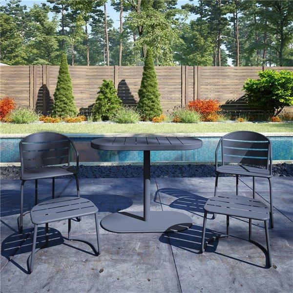 cosco outdoor furniture 5 piece patio bistro set gray