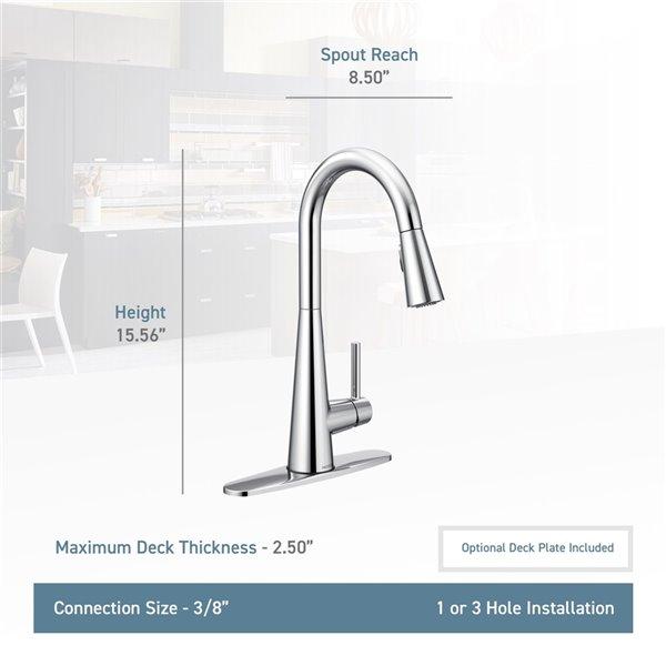 moen sleek pulldown kitchen faucet oil rubbed bronze