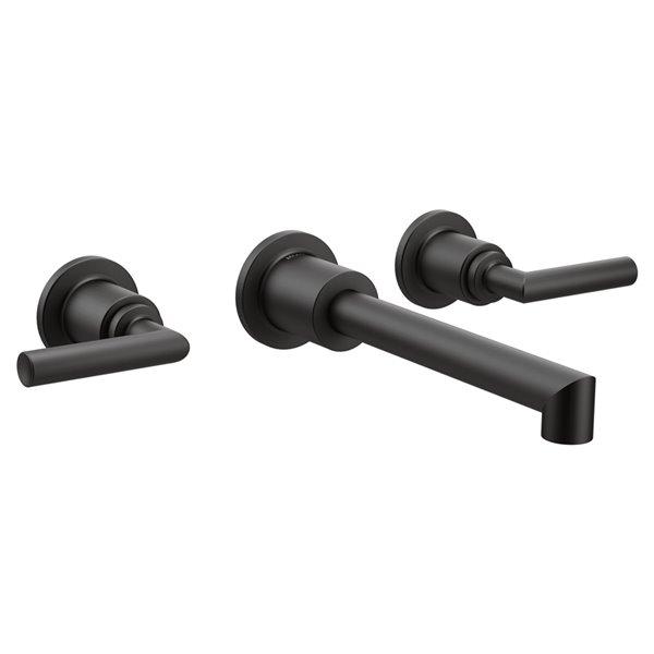 moen arris wall mount faucet matte black valve sold separately