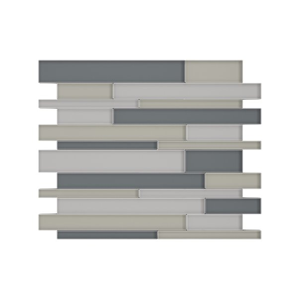 speedtiles satya glass peel and stick wall tile linear pattern 12 2 in x 9 72 in mixed grey