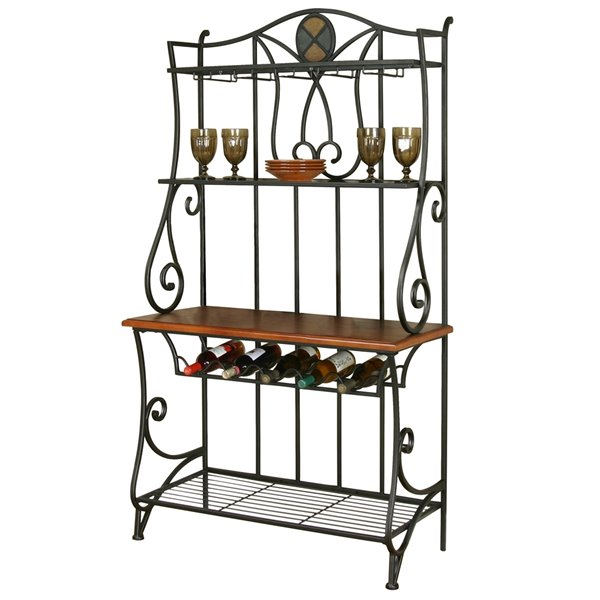 sunset trading vail bakers rack 72 in brown