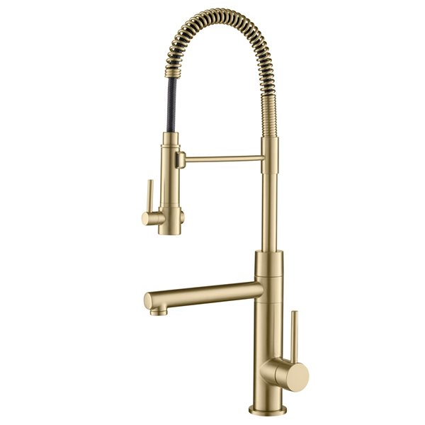 kraus pull down kitchen faucet with pot filler antique champagne bronze