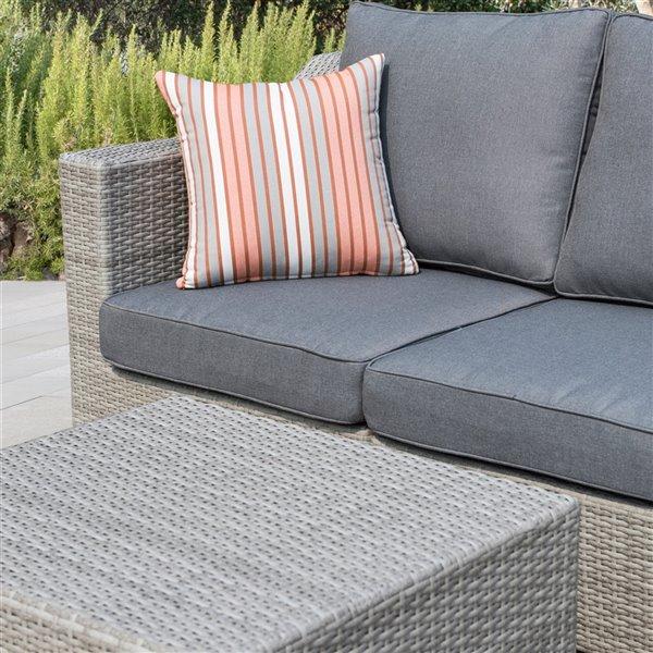 starsong kavala patio sofa set dark grey 4 pcs
