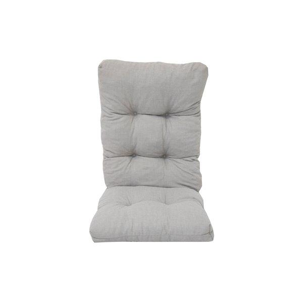 bozanto inc high back patio chair cushion light grey