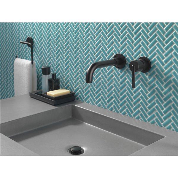 delta trinsic wall mount bathroom faucet trim 1 handle matte black