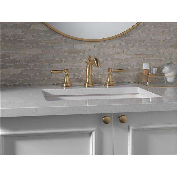 delta cassidy widespread bathroom faucet 2 handle champa