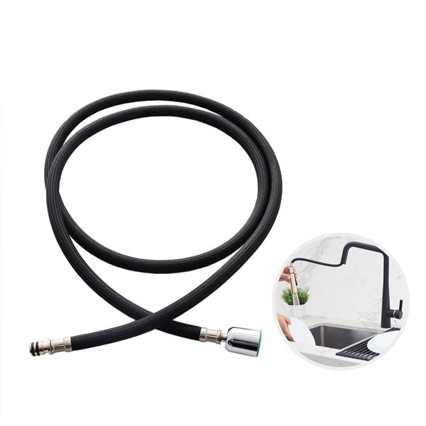 stylish nylon pull down kitchen faucet hose 61 in black