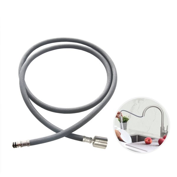 stylish nylon pull down kitchen faucet hose 61 in grey
