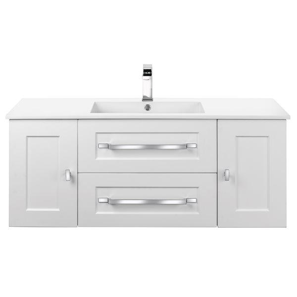https www rona ca en cutler kitchen bath riga 48 in white single sink bathroom vanity with white acrylic top 330784784