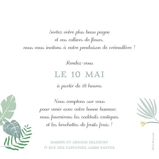 carte d invitation anniversaire adulte jardin tropical