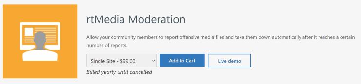 rtmedia moderation addon