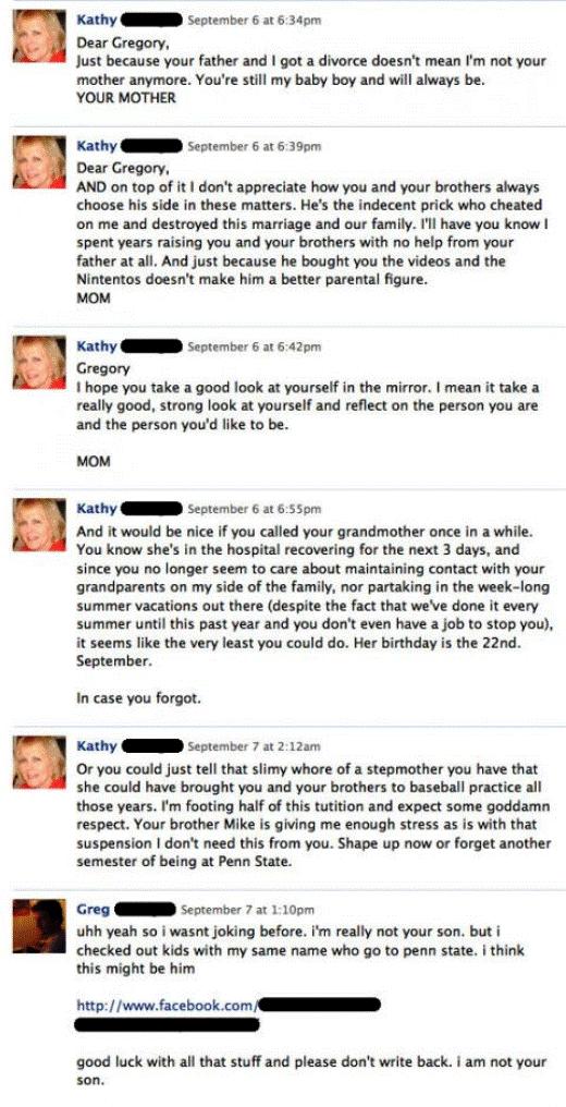 crazy facebook mom Nine Hilariously Awkward Facebook Interactions