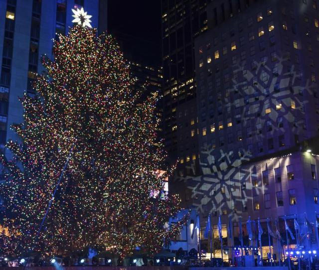 The Rockefeller Center Christmas Tree Is Lit During The Th Annual Rockefeller Center Christmas Tree Lighting Ceremony On Wednesday Nov