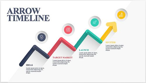 15  Best Timeline Templates   Free   Editable   Custom Designs Arrow timeline template