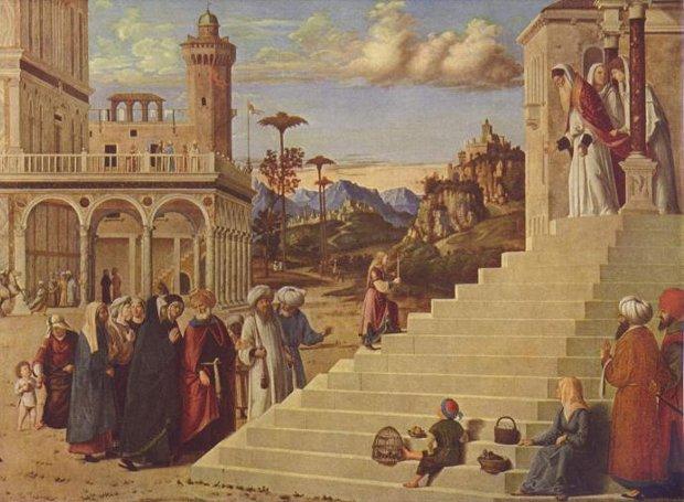 Τα Εισόδια της Θεοτόκου. Πίνακας του Τζιοβάνι Μπατίστα Τσίμα