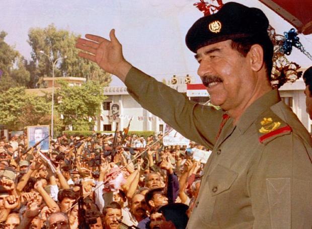 Ο πρόεδρος του Ιράκ, Σαντάμ Χουσεΐν