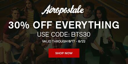 30% Off at Aeropostale