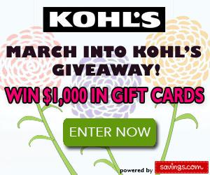 March Into Kohl's Giveaway