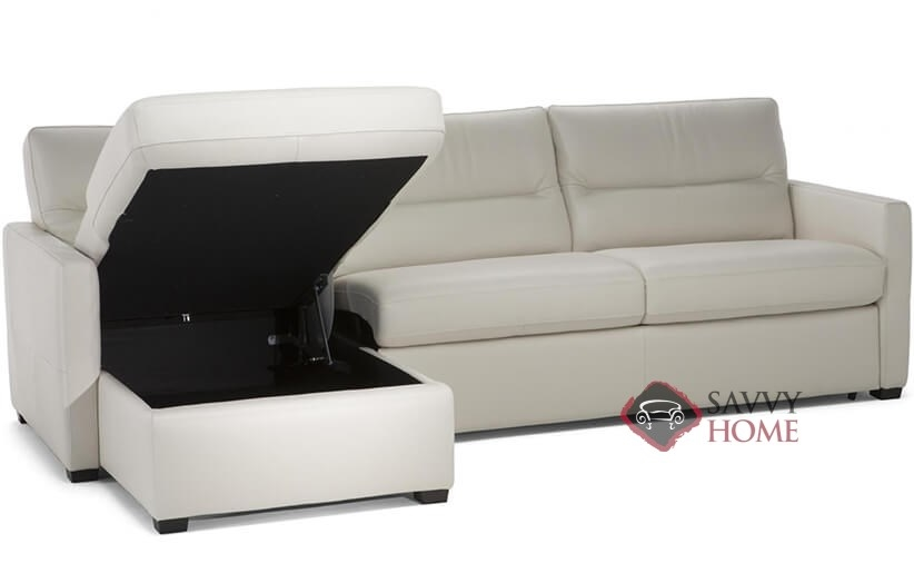 conca leather chaise sectional full sofa bed by natuzzi editions with storage c010 377 379 534 535