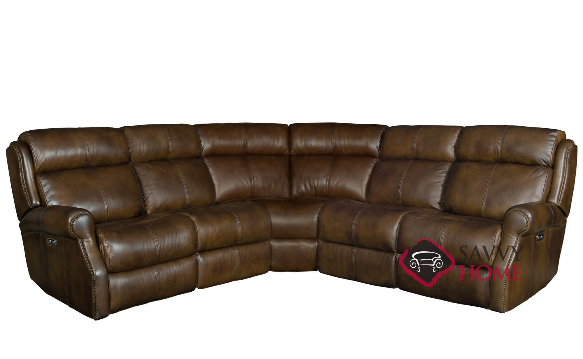 Quick Ship Mcgwire By Bernhardt Leather Reclining True Sectional In By Bernhardt With Fast Shipping Savvyhomestore Com